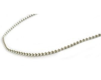 20 Sterling Silver Ball Chains 16 inch Necklaces with Lobster Clasps