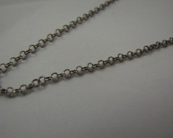 16 inch Sterling Silver Oxidized Rolo Chain 2.5mm Links