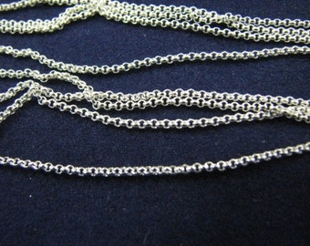 12 Sterling Silver Rolo Link Chains 18 inch 1.2mm Fine