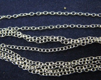 18 inch Cable Chains Sterling Silver 12 pieces