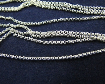 10 Sterling Silver 16 inch Oxidized Rolo Chains 1.2mm Round Links