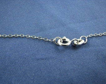 50 Sterling Silver 16 1/2 inch Cable Chains 1.5mm Links
