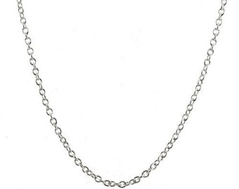 2.5mm Rolo Chain 26 inch Sterling Silver Pendant Necklace with Lobster Clasp