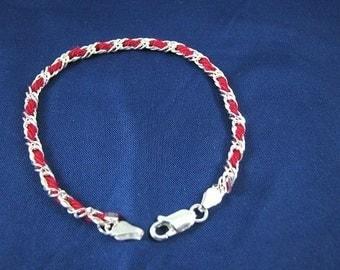 The Original Kabbalah Red String Bracelet Sterling Silver 9 inch
