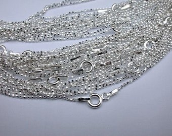Sterling Silver 36 inch Diamond Cut Ball Chain Necklace