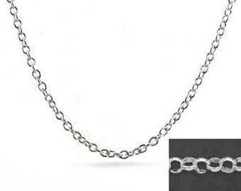 Bulk Sterling Silver Rolo Chain by the foot 2.2mm 10 feet