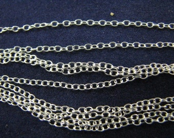 12 Sterling Silver 16 inch Cable Chain Necklaces 1.5mm X 1mm
