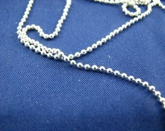 40 Ft Sterling Silver Diamond Cut Ball Chain on Spool Bulk 1.2mm Beaded