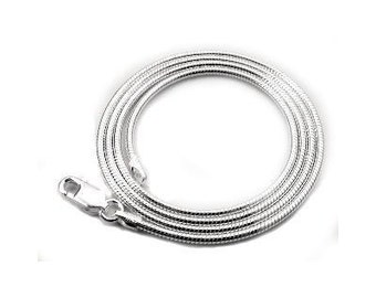 3 Sterling Silver Snake Chains 2mm 18 inch Necklaces with Lobster Clasps