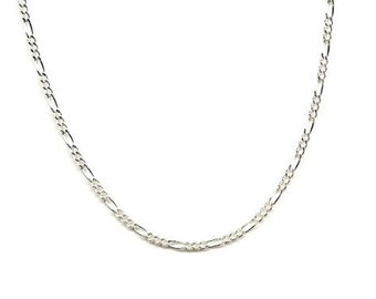 10 Feet Sterling Silver 2mm Figaro Chain Bulk Unfinished on Spool