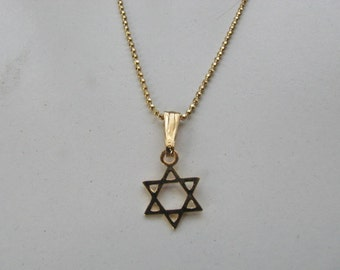 14K Gold Plate Star of David Pendant Necklace