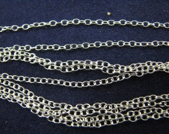 Sterling Silver 22 inch Cable Link Chain Necklace