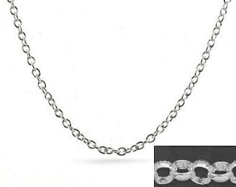 20 inch Sterling Silver 4mm Rolo Chain Necklace with Lobster Clasp
