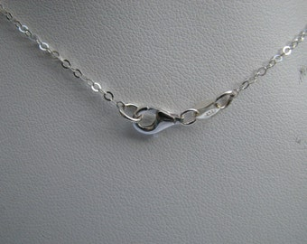18 inch Sterling Silver Flat Cable Chain with Lobster Clasp
