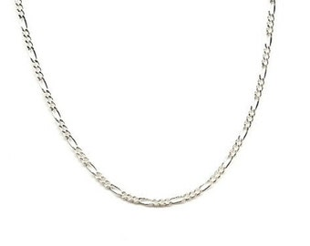 16 inch Sterling Silver 2mm Figaro Chain Necklace