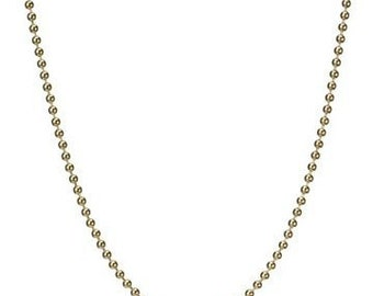 16 inch Gold fill 2mm Ball Chain Necklace with Lobster Clasp