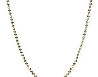 5 Gold filled 18 inch Ball Chain Necklaces with Lobster clasps