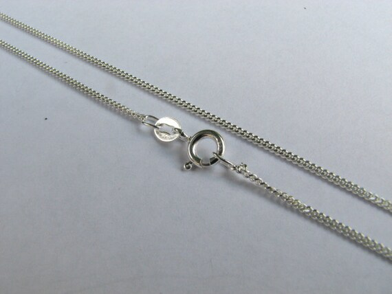 5 Sterling Silver Curb Chains 18 inch Necklaces with Clasps