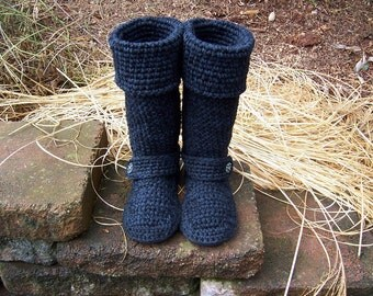 Crochet Boots, 16 to 19 inches