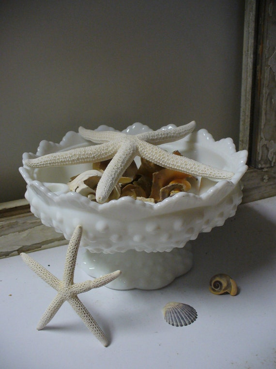 REDUCED - Milk Glass Pedestal Bowl Candle Holder