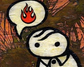 art print 5x5 inch - verge loves fire