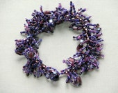 Purple Dangle Fringe Bracelet