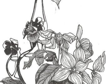 Linear Flowers Still LIfe