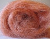 Copper Shimmah batt - hand dyed Tussah silk / hand dyed Firestar