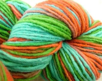 Tahiti - 195 yards hand-dyed wool yarn