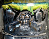Pirate skull tankard stein gunmetal gray green