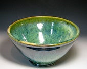 Serving bowl deep moss green