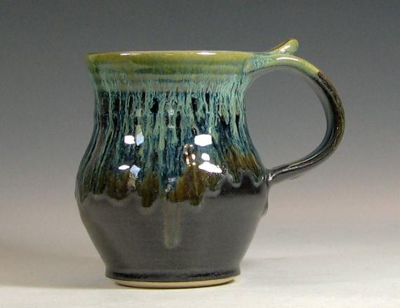 Coffee Mug Ceramic Handmade Pottery Tea Cup By Hughespottery