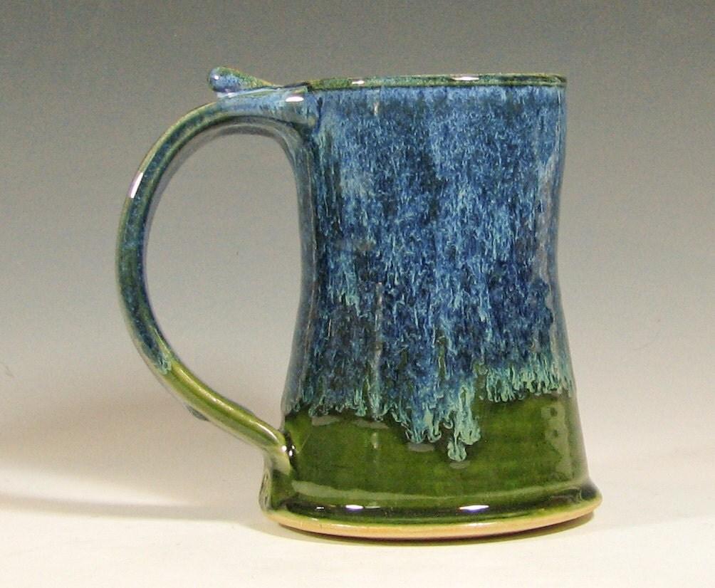 Coffee Mug Ceramic Beer Tankard Cup Handmade Stein Glazed
