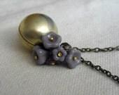 Lilac Bouquet Necklace
