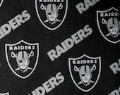 Raiders Licensced Fabric  (1 1/2 YD) -  Raiders Fabric,