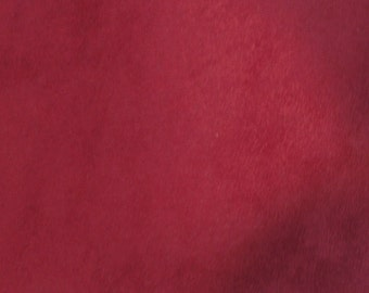 Rich Cranberry Faux Suede Fabric  (1 1/2 Yds)  Home Decorating Faux Suede Fabric, Home Decor Fabric, Cranberry Home Decor Fabric