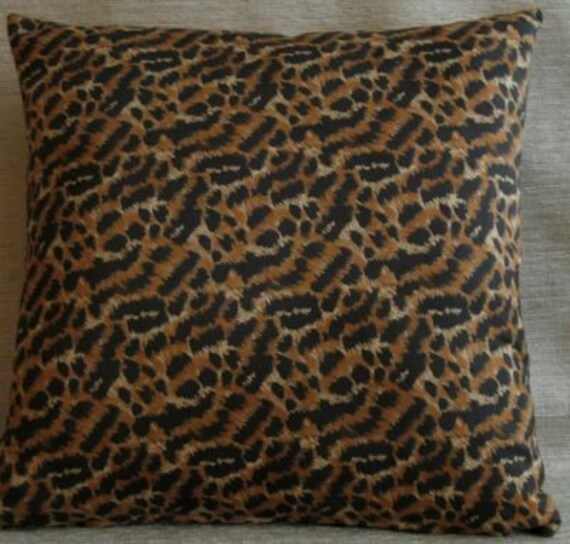 Items similar to Large Leopard Print Faux Suede Pillow with Insert (19 X 19 Inch) Leopard Print ...