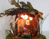 Cozy Little Fairy House with WORKING LIGHTS