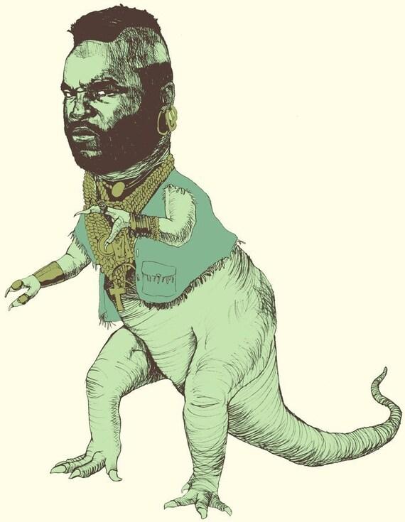 Mr. T-Rex - Color Print