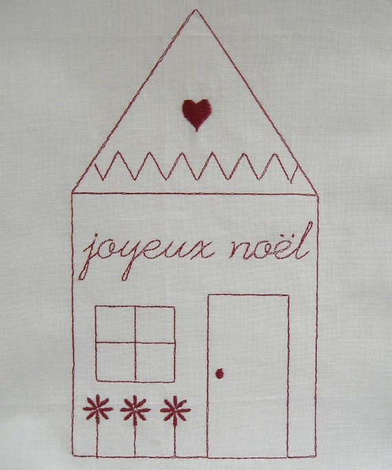 Holiday House Embroidery Designs