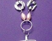 Breast Cancer awareness vintage necklace pendant style for breast cancer awareness handmade (COURAGE)