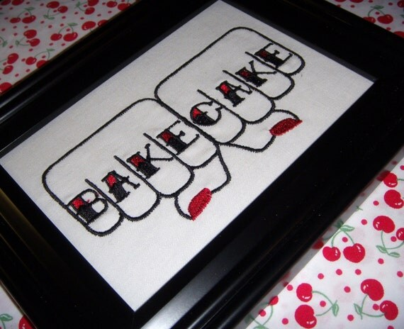 Bake Cake Embroidery - Unframed