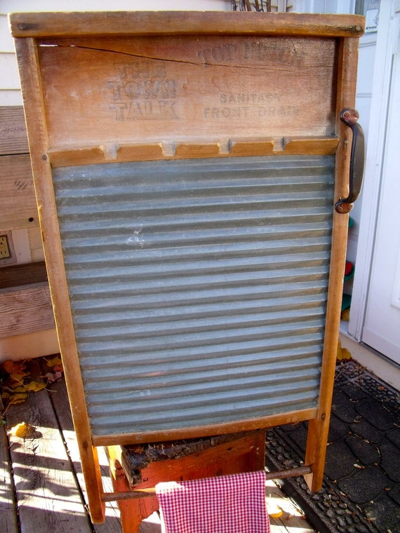 "anTiQue X-LaRge WASHBOARD REcycled inTo a WALL CABINET-""The Town TaLk""-Natl' Washboard Co. No.604-GreaT MeDiCiNe CaBiNeT by Natl'. Washboard"
