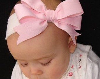 Newborn, baby, toddler or girl bow white headband or choose other colours