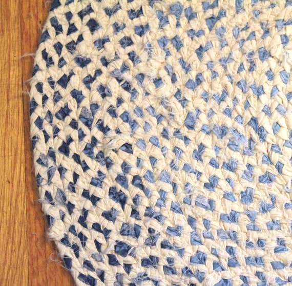 Upcycled Handmade Oblong/Oval Braided Rag Rug By Sassu On Etsy