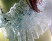 White Victorian Neck Ruffle with a Sassafrazz Twist