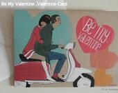 Valentine Card ,A Mod Story  illustration