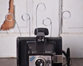 Polaroid Land Camera UpCycled Photo Business Card Holder