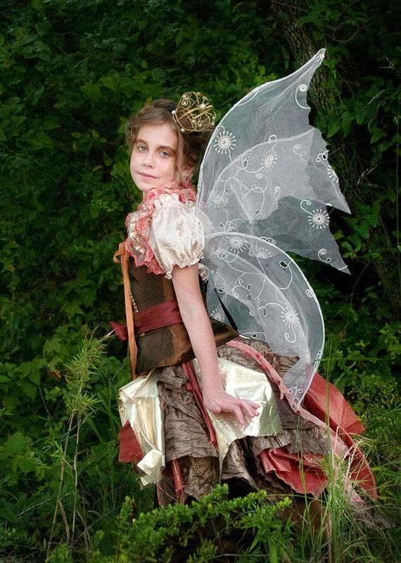 Autumn Renaissance Fairy Gown Costume Girls Size 8-12 READY TO SHIP