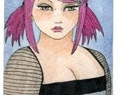 Pink Hair Punky Girl